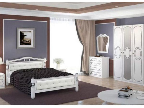 Спальный гарнитур «Идиллия» белый жемчуг