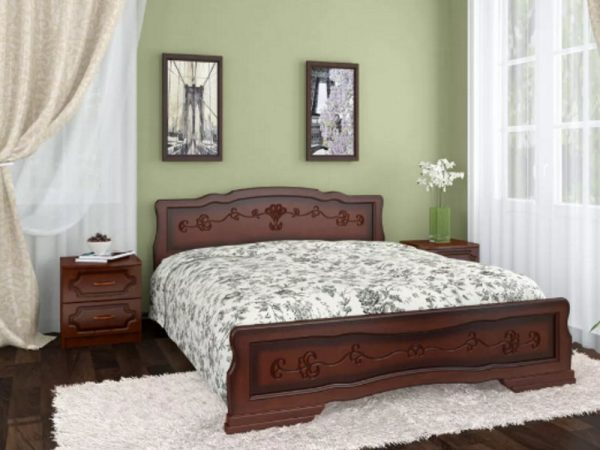 Кровать «Карина-6» орех